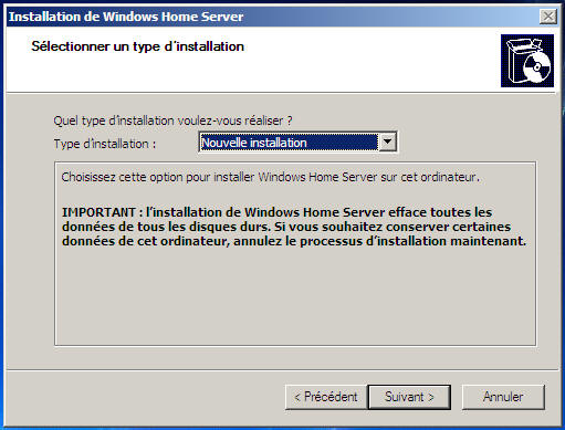 Windows Home Server type installation