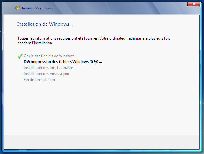Windows 7 - copie des fichiers