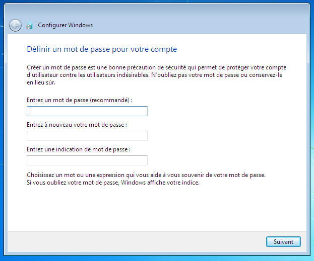 Windows 7 passord