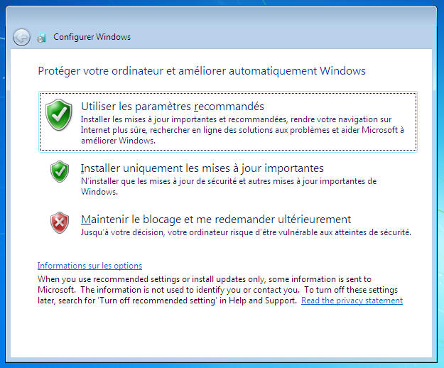 Windows 7 -Mises à jour