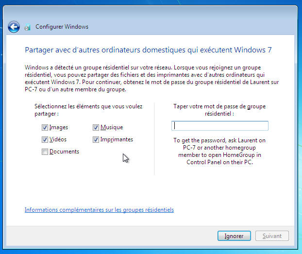 Windows 7 - Homegroup
