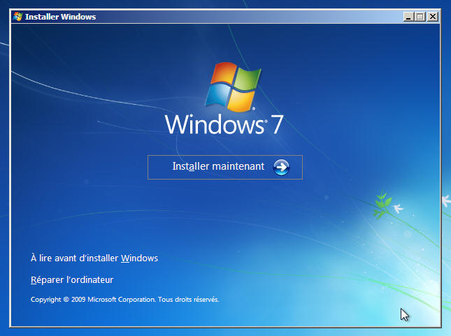 Windows 7 - Installer maintenant