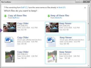 Windows 8 file conflict