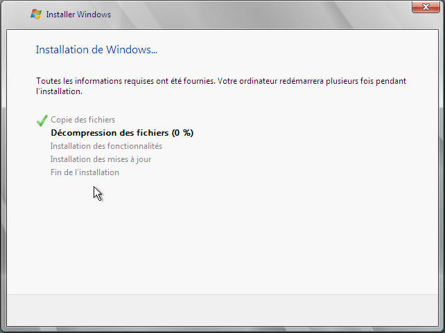 Windows Server 2008 - installation