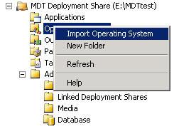 MDT import OS