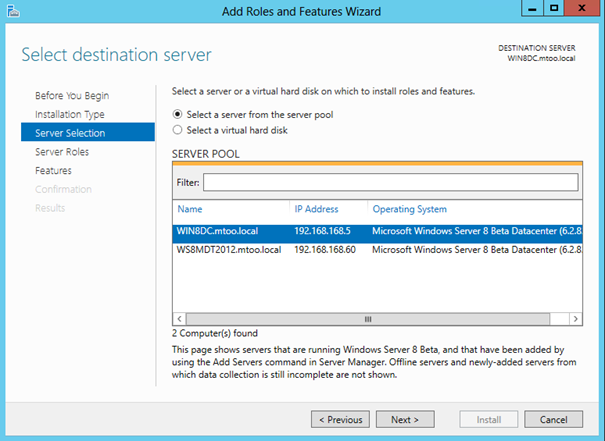 windows server 2012 features list pdf