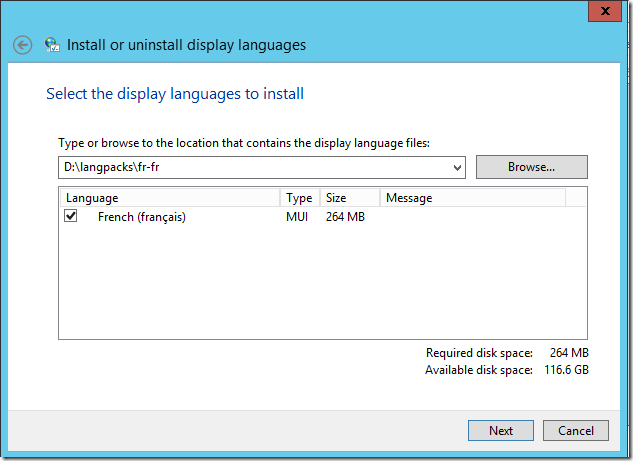 change office 2016 language pack
