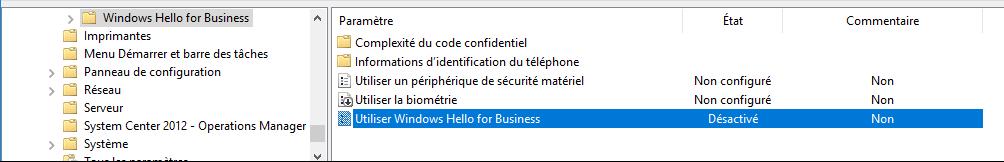 Eviter l'obligation de créer un mot de passe PIN avec Azure AD et