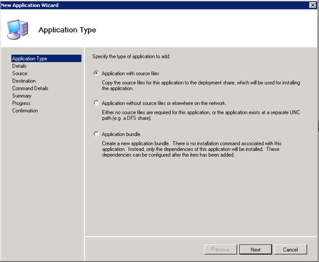 MDT new application type