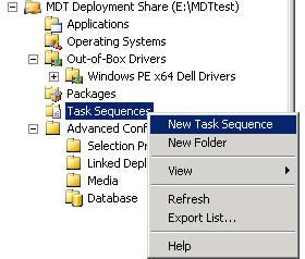 ToutWindows com - Windows Deployment - Creating a task sequence in MDT