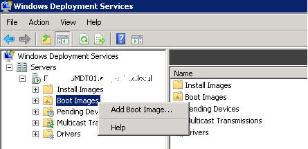WDS import boot image