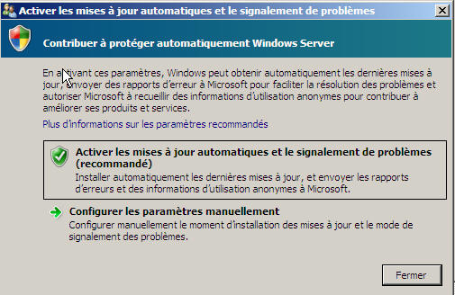 Windows Server 2008 - mise a jour
