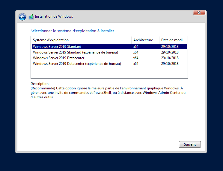 Installation de Windows Server 2019 – version Core – pas-à-pas | www