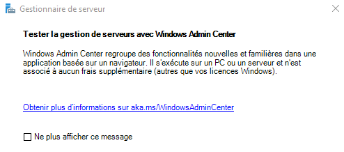 Windows Server 2019 – Installation des rôles et